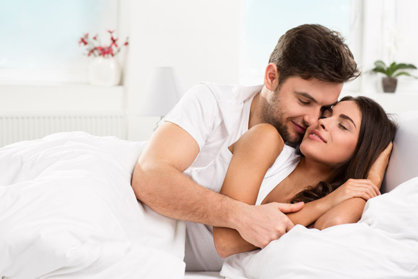 husband wife romance in bed